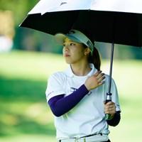 お団子ヘアはまだ(代表撮影:鈴木祥) 2020年 NEC軽井沢72ゴルフトーナメント 初日 田中瑞希