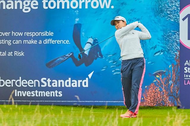 2020年 ASIスコットランド女子オープン 2日目 畑岡奈紗 畑岡奈紗は首位と5打差で決勝ラウンドに進んだ(提供:Paul Severn/LPGA)