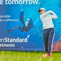 畑岡奈紗は首位と5打差で決勝ラウンドに進んだ(提供:Paul Severn/LPGA) 2020年 ASIスコットランド女子オープン 2日目 畑岡奈紗