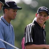 神の子ガルシア。大会期間中にウッズとともにラウンドしていた(Getty Images) 1999年 全米プロゴルフ選手権 最終日 セルヒオ・ガルシア タイガー・ウッズ