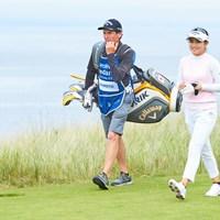 河本結はリンクスでスコアを伸ばせず(Paul Severn/LPGA) 2020年 ASIスコットランド女子オープン 2日目 河本結