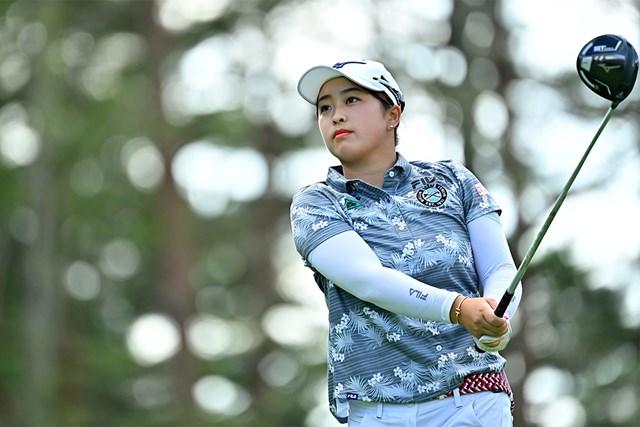 2020年 NEC軽井沢72ゴルフトーナメント  2日目 西郷真央 西郷真央が2日連続「68」でスコアを伸ばした(Atsushi Tomura/Getty Images)