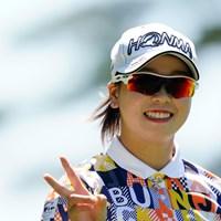 あすは勝負!(代表撮影:岡沢裕行) 2020年 NEC軽井沢72ゴルフトーナメント 2日目 後藤未有
