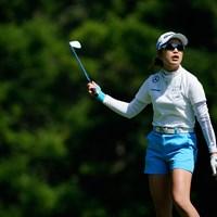 ひょえー(代表撮影:鈴木祥) 2020年 NEC軽井沢72ゴルフトーナメント 2日目 大西葵