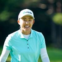 笑顔がいいね!(代表撮影:鈴木祥) 2020年 NEC軽井沢72ゴルフトーナメント 2日目 前田陽子
