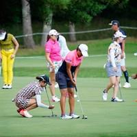 ファッションは人ぞれぞれというけれど…(代表撮影:鈴木祥) 2020年 NEC軽井沢72ゴルフトーナメント 3日目 ゴルフウェア