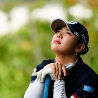 神さまぁ~(代表撮影:岡沢裕行) 2020年 NEC軽井沢72ゴルフトーナメント 最終日 吉田優利
