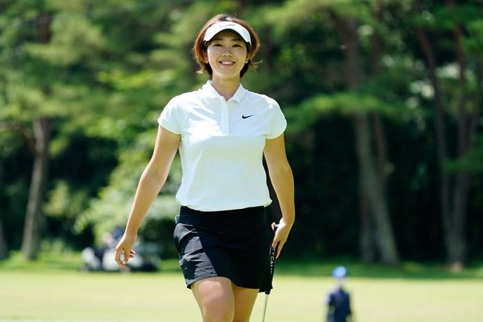 爽やかだね(代表撮影:岡沢裕行) 2020年 NEC軽井沢72ゴルフトーナメント 最終日 葭葉ルミ