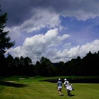 ママ、もう少しで帰るからね(代表撮影:鈴木祥) 2020年 NEC軽井沢72ゴルフトーナメント 最終日 若林舞衣子