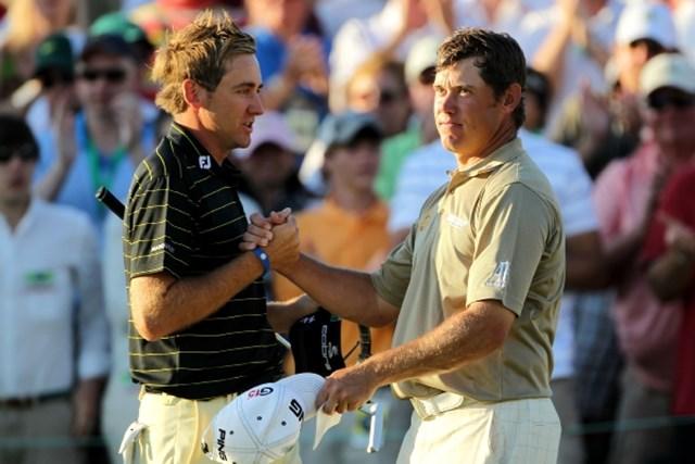 最終組をラウンドしたイングランド出身の2人。L.ウェストウッド(右)が最終日最終組に残った (Jamie Squire /Getty Images)