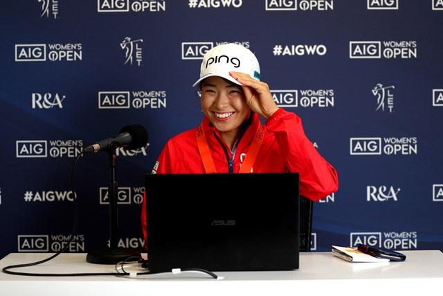 2020年 AIG女子オープン  事前 渋野日向子 渋野日向子は開幕2日前に公式会見に出席した(R&A、Getty Images)