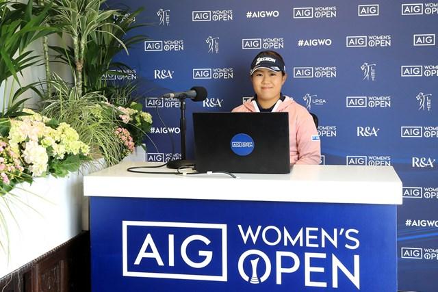 2020年 AIG女子オープン(全英女子)  事前 畑岡奈紗 畑岡奈紗はリモートでの公式会見に出席した(R&A、Getty Images)