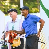 1年ぶりの連戦に臨むウッズ(Keyur Khamar/PGA TOUR via Getty Images) 2020年 ザ・ノーザントラスト 初日 タイガー・ウッズ