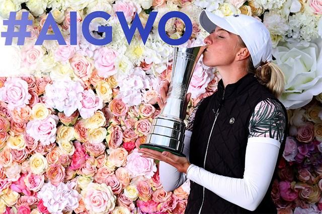 2020年 AIG女子オープン(全英女子)  最終日 ソフィア・ポポフ ドイツ人女子選手初のメジャー制覇(R&A/Getty Images)