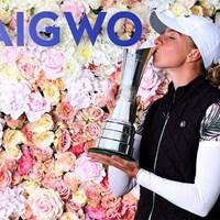 ドイツ人女子選手初のメジャー制覇(R&A/Getty Images)  2020年 AIG女子オープン(全英女子)  最終日 ソフィア・ポポフ