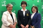 2020年 日本女子プロゴルフ選手権大会コニカミノルタ杯 事前 岡本綾子 小林浩美 原田香里