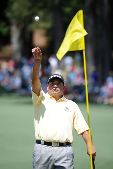 昨年の覇者、A.カブレラは18位タイで終えた(Harry How /Getty Images) 2010年 マスターズ最終日 アンヘル・カブレラ
