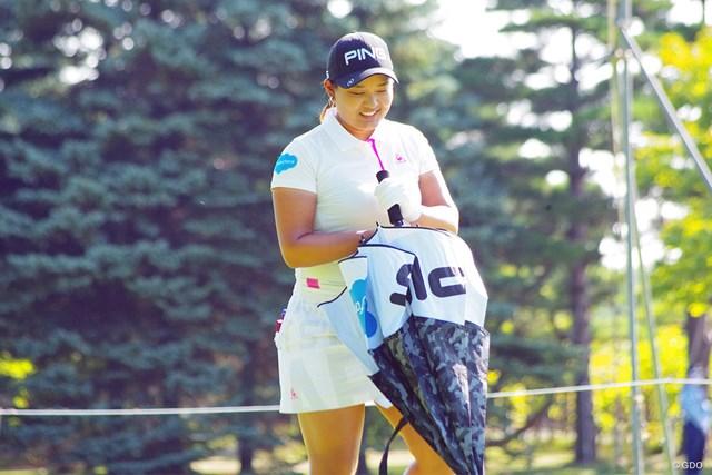 2020年 ニトリレディスゴルフトーナメント 事前 鈴木愛 賞金女王の鈴木愛。見つめるのは遠いゴールだ