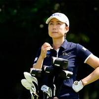 考え中(代表撮影/上山敬太) 2020年 ニトリレディスゴルフトーナメント 事前 原江里菜