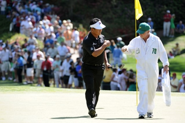 一時は首位に並ぶなど、アジア勢初の「マスターズ」制覇に近づいたチェ・キョンジュだったが・・・ (Harry How /Getty Images)