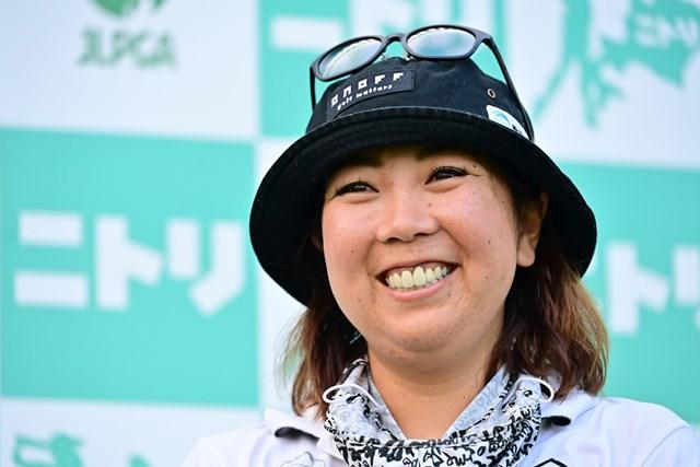 2020年 ニトリレディスゴルフトーナメント 初日 大城さつき 7アンダーで首位発進を決めた大城さつき (Atsushi Tomura/Getty Images)