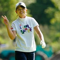 あどけない笑顔(代表撮影/上山敬太) 2020年 ニトリレディスゴルフトーナメント 2日目 木下彩