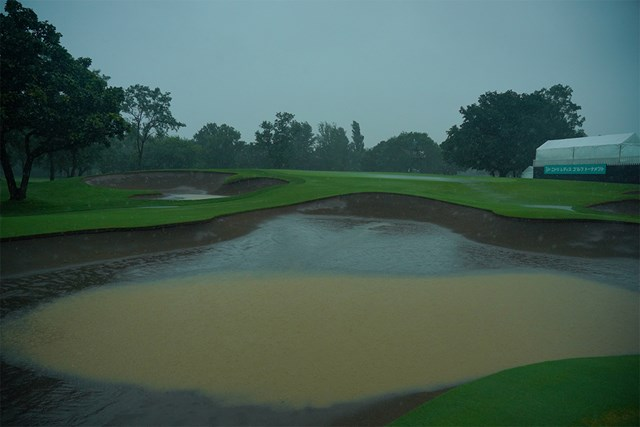 2020年 ニトリレディスゴルフトーナメント 4日目 コース 激しい雨が降り注ぐ最終日となった(代表撮影/中野義昌)