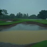 激しい雨が降り注ぐ最終日となった(代表撮影/中野義昌) 2020年 ニトリレディスゴルフトーナメント 4日目 コース