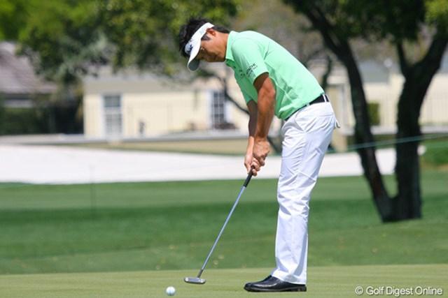 2010年 ベライゾンヘリテージ 事前 今田竜二 2週間ぶりの試合となる今田竜二はどのようなゴルフを見せてくれるのか(写真は2010年3月28日に撮影)
