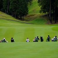 アップダウンの激しいコースです(代表撮影・岡沢裕行) 2020年 ゴルフ5レディス プロゴルフトーナメント 初日 吉田優利