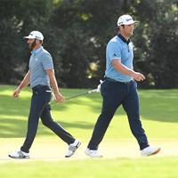 初日から攻防を繰り広げたジョンソンとラーム(Ben Jared/PGA TOUR via Getty Images) 2020年 ツアー選手権 初日 ダスティン・ジョンソンとジョン・ラーム