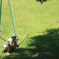 絶対に狙います(代表撮影・渡辺義孝) 2020年 ゴルフ5レディス プロゴルフトーナメント 2日目 渡邉彩香