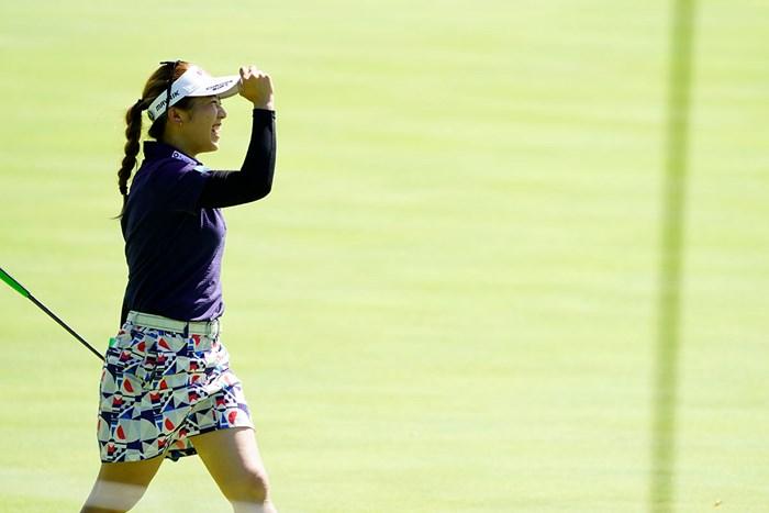 コラー!(代表撮影・岡沢裕行) 2020年 ゴルフ5レディス プロゴルフトーナメント 2日目 田中瑞希