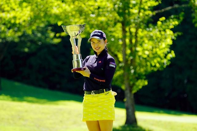 2020年 ゴルフ5レディス プロゴルフトーナメント 最終日 小祝さくら ツアー2勝目を挙げた小祝さくら(代表撮影・岡沢裕行)