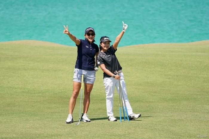 大の仲良し 2020年 日本女子プロゴルフ選手権大会コニカミノルタ杯 事前 青木瀬令奈 成田美寿々