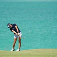 奇麗いな水面色、もちろん美寿々ちゃんもね 2020年 日本女子プロゴルフ選手権大会コニカミノルタ杯 事前 成田美寿々