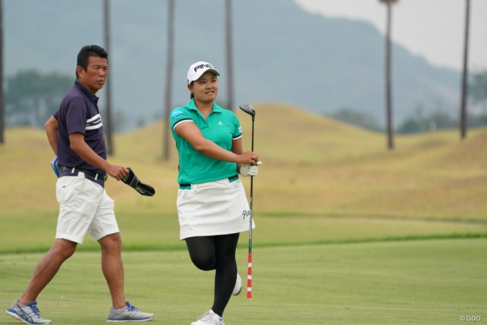 得意なポーズなんです 2020年 日本女子プロゴルフ選手権大会コニカミノルタ杯 事前 鈴木愛
