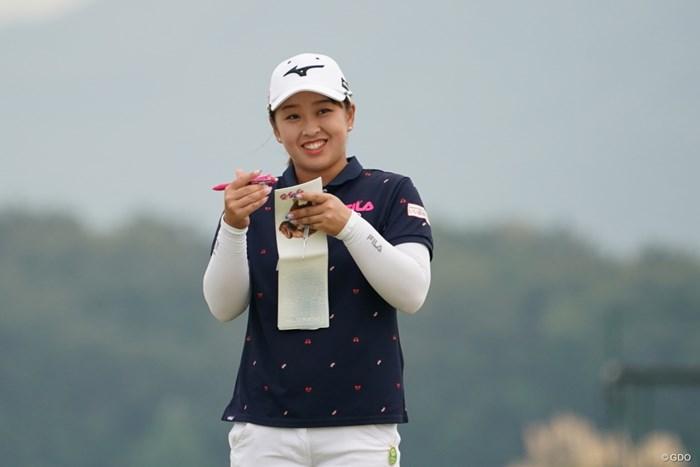 下調べの西郷ドン 2020年 日本女子プロゴルフ選手権大会コニカミノルタ杯 事前 西郷真央