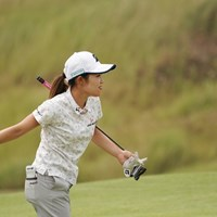 ボールトス?するはず 2020年 日本女子プロゴルフ選手権大会コニカミノルタ杯 事前 古江彩佳