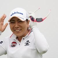 ノーサングラスカット、笑顔かわいいじゃん 2020年 日本女子プロゴルフ選手権大会コニカミノルタ杯 事前 宮里美香