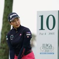 初日は10番からのスタート 2020年 日本女子プロゴルフ選手権大会コニカミノルタ杯 初日 小祝さくら