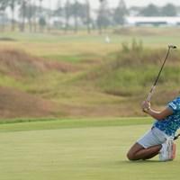 惜しい~ 2020年 日本女子プロゴルフ選手権大会コニカミノルタ杯 初日 成田美寿々