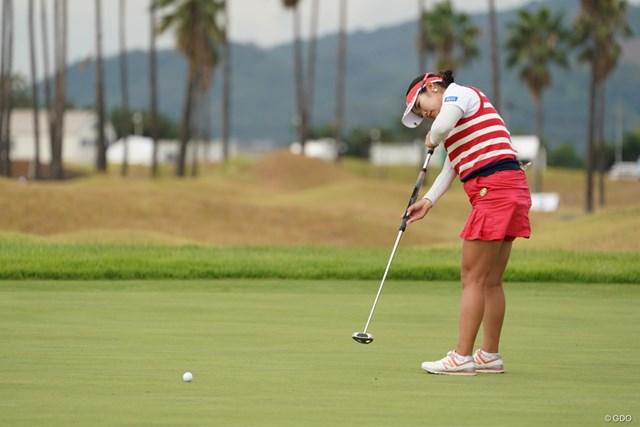 2020年 日本女子プロゴルフ選手権大会コニカミノルタ杯 2日目 松原由美 このスタイル、変わってないな~