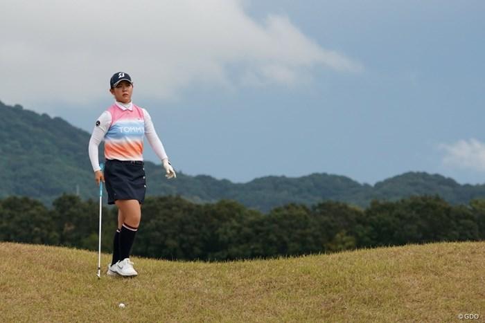 難しいライにボールが止まったもんだ 2020年 日本女子プロゴルフ選手権大会コニカミノルタ杯 2日目 吉田優利