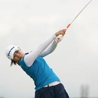 5番ティショット、5アンダー7位タイ 2020年 日本女子プロゴルフ選手権大会コニカミノルタ杯 2日目 永峰咲希