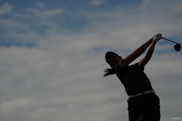 2020年 日本女子プロゴルフ選手権大会コニカミノルタ杯 2日目 福田真未 シルエットでごめん