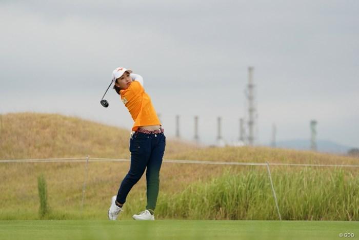 風の読みが難しそう 2020年 日本女子プロゴルフ選手権大会コニカミノルタ杯 2日目 西郷真央