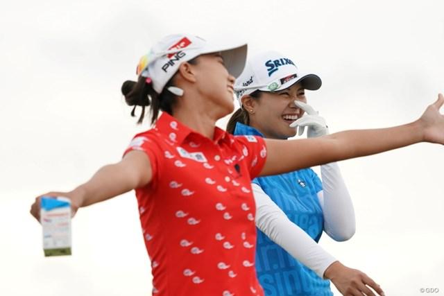 2020年 日本女子プロゴルフ選手権大会コニカミノルタ杯 2日目 新垣比菜 盛り上がってる~