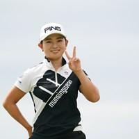 ピース良し、笑顔良し 2020年 日本女子プロゴルフ選手権大会コニカミノルタ杯 3日目 吉川桃