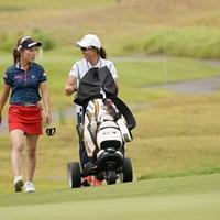 和気あいあいと 2020年 日本女子プロゴルフ選手権大会コニカミノルタ杯 3日目 木村彩子